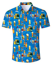 Load image into Gallery viewer, Uideazone Beer Hawaii Shirt for Men Summer Beach Shirts