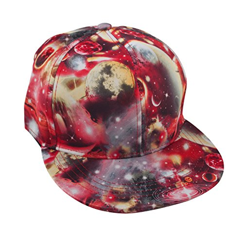 Unisex Snapback Hat/Flat Bill Baseball Cap with Space Galaxy