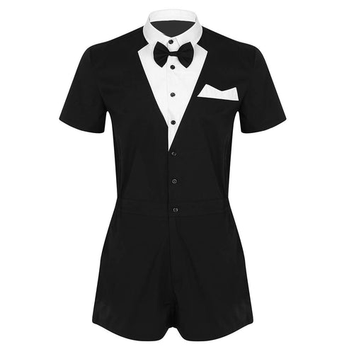 Classic Gentleman One Piece Romper