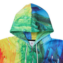 Load image into Gallery viewer, Uideazone Teen 3D Graffiti Painting Zipper Hoodie