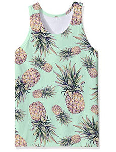 Mens Funny Pineapple Tank Tops Pineapple Graphic Tops