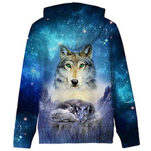 Load image into Gallery viewer, Uideazone Boys Hipster Printed Snow Wolf Hoodie