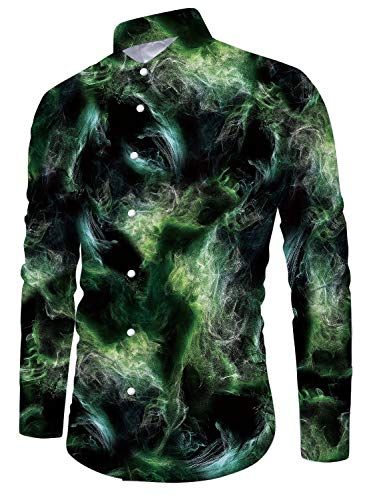Galaxy Smoke Top Premium Button Down Long Sleeve Shirts