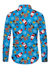 Load image into Gallery viewer, Men Button Down Christmas Santa Claus Long Sleeve Shirts