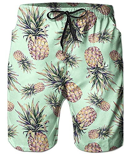 Pineapple Summer Casual Beach Surfing Board Shorts Trunks