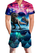 Load image into Gallery viewer, Design Unisex Printed Dinosaur Summer Casual Romper