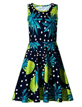 Load image into Gallery viewer, Girls Pineapple Sleeveless Sundress for Party 4-5 Years
