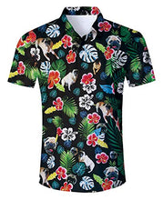 Load image into Gallery viewer, Uideazone Dog Flowers Short Sleeve Shirt