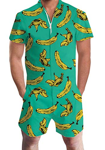 Uideazone Design Unisex  One-Piece Male Banana Romper
