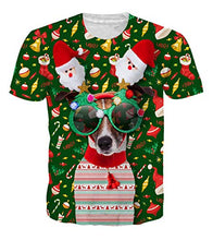 Load image into Gallery viewer, Uideazone Ugly Christmas Dog T-Shirt
