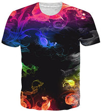 Load image into Gallery viewer, 3D Smoke Print Fahsion Casual T-Shirt Funny Graphic