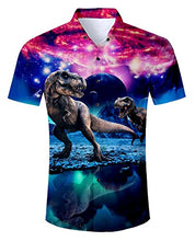 Load image into Gallery viewer, Uideazone 3D Printed Galaxy Dinosaur T-Shirts