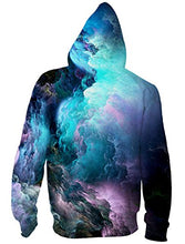 Load image into Gallery viewer, All Over Printed Galaxy Nebula Cluster Zip Up Hoodie