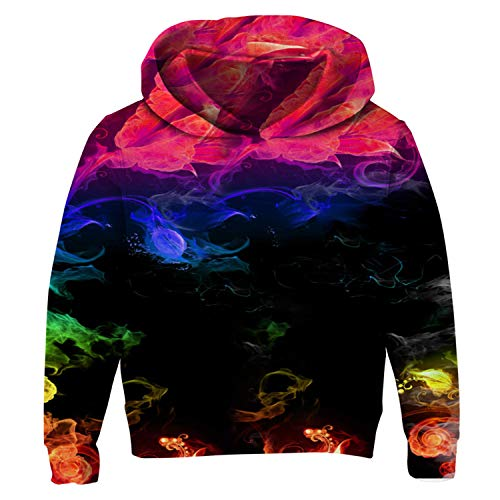 Uideazone Unisex 3D Graphic Printed Smoke Pullover Hoodies