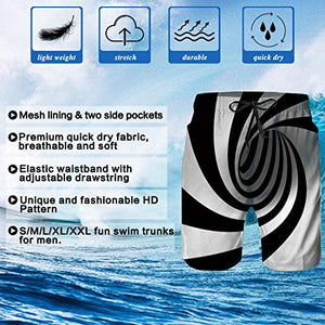 Uideazone Cool Graphic Swimming Novelty Summer Board Shorts