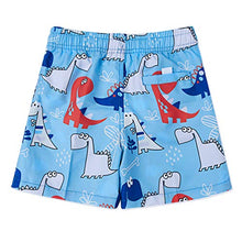 Load image into Gallery viewer, Boys Swim Trunks Quick Dry Board Forest Dinosaur Shorts