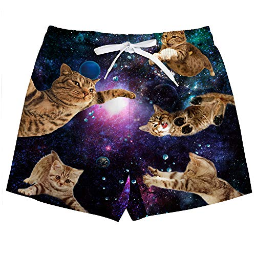 Uideazone Little Boys Cats Swim Trunks Quick Dry