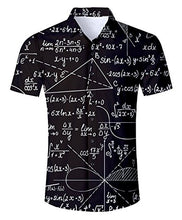 Load image into Gallery viewer, Uideazone Men's Black Math Fraphic Shirt