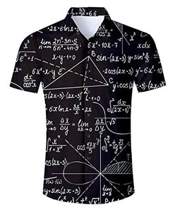 Uideazone Men's Black Math Fraphic Shirt
