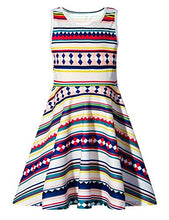 Load image into Gallery viewer, Girls Hawaiian Striped Round Neck Sleeveless Dress