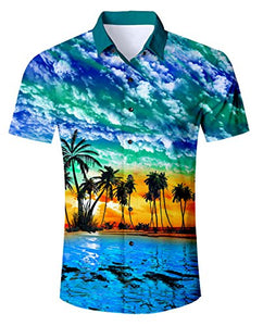 Uideazone Funky Hawaiian Shirts for Men Short Sleeve