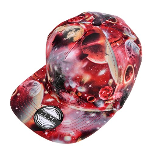 Galaxy Baseball Cap Adjustable Flat Bill Snapback Hat