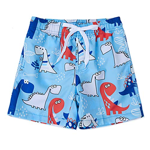 Boys Swim Trunks Quick Dry Board Forest Dinosaur Shorts