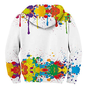 Uideazone Boys Girls 3D Graffiti Pullover Hoodie