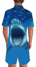 Load image into Gallery viewer, Uideazone Design 90s Mens 3D Shark Printed Romper
