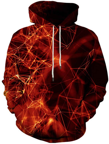 Unisex Men/Women Abstract Red Graphic 3D Printed Hoodies