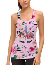 Load image into Gallery viewer, Unicorn Racerback Sleeveless Sport Tank Tops