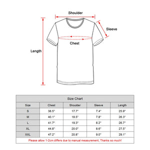Crew Neck T-Shirt Color Inkjet Shirt Casual Short Sleeve Tshirt
