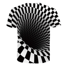 Load image into Gallery viewer, Unisex Hole Print Horrifying 3D Shirt Short Sleeve Tees