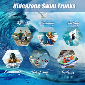 Uideazone Swim Summer Cool Quick Dry Board Shorts Trunks