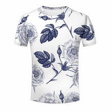 Load image into Gallery viewer, Uideazone 3d Print T Shirt Love Rose Flower Men Tees