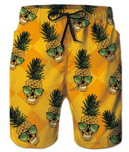 Load image into Gallery viewer, Mens Cute Pineapple Ananas with Sunglasses Swim Trunks