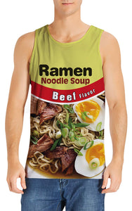 Uideazone Noodle Men's Tank Tops Workout Sleeveless Tee