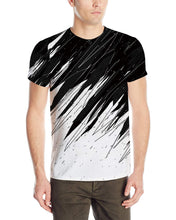 Load image into Gallery viewer, Unisex Line Print Short Sleeve T-Shirt Casual Graphic Tee