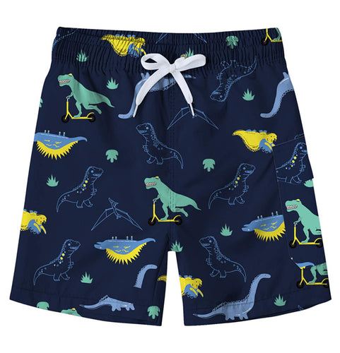 Kids Swim Waterproof Quick Dry Dinosaur Board Trunks