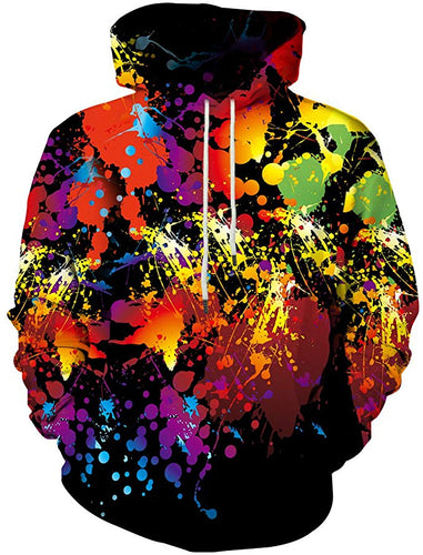 Unisex Men/Women Abstract Colorful Rainbow 3D Hoodie