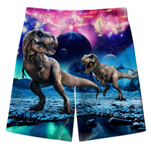 Load image into Gallery viewer, Boy's Dinosaur Graphic Swimming Trunks Beach Shorts with Pockets
