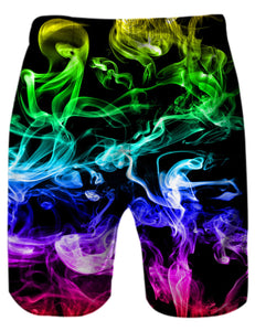 Trunks Beach Party Colorful Smoke Surf Board Trunks