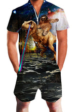Load image into Gallery viewer, Uideazone Mens 3D Cool Wolfs Dinosaur Design Rompers