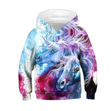 Load image into Gallery viewer, Kids Hoodie Galaxy Nebula Unicorn Baseball uniform