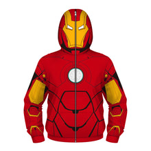 Load image into Gallery viewer, Kids Zipper Hoodie Halloween Red Iroman Cosplay