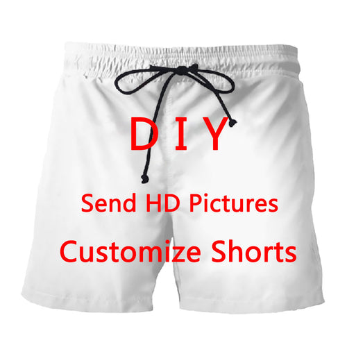 DIY Personalized Design Men/Women 3D Printed Shorts Trunks