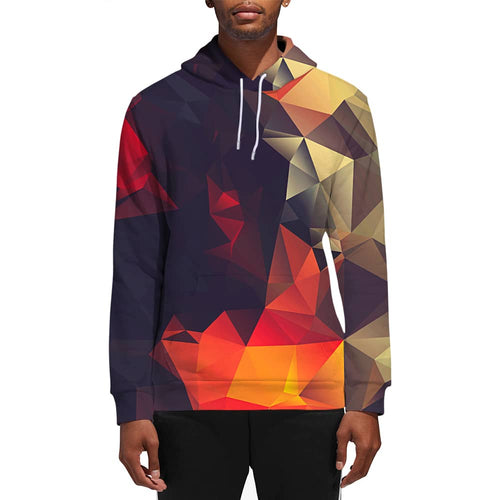 3D Print Male Abstract Glow Hoodie