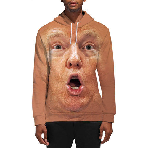 3D Print Male Donald Trump Shocked Face Hoodie