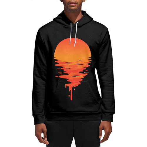 3D Print Male Melting Sunset Hoodie