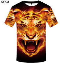 Load image into Gallery viewer, Unisex Fire Tiger Animal 3D Printed T Shirt